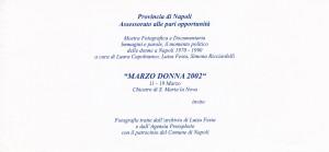 """""""Marzo Donna 2002"""""""