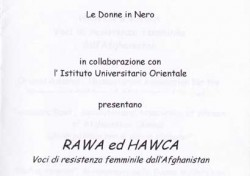 Rawa ed Hawca. Voci di resistenza femminile dall'Afghanistan