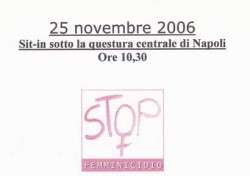 Sit-in sotto la questura centrale di Napoli – Stop femminicidio