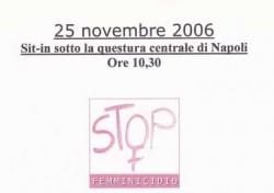 Sit-in sotto la questura centrale di Napoli – Stop femminicidio