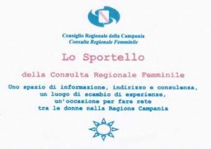 Lo Sportello della Consulta Regionale Femminile