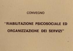 Riabilitazione psicosociale ed organizzazione dei servizi
