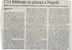 L'11 febbraio in piazza a Napoli