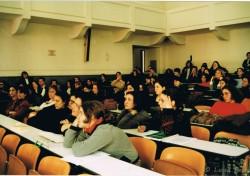 8 marzo 1999. Rappresentazione teatrale presso Facoltà di Lettere Università Federico II.