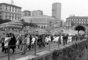 Manifestazione politica del femminismo a Napoli