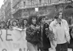 Manifestazione 8 marzo 1988