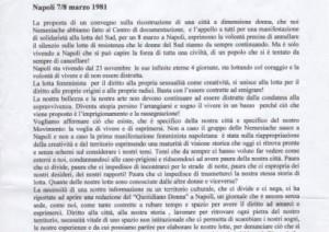 Napoli 7/8 marzo 1981