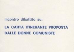 La carta itinerante proposta dalle donne comuniste