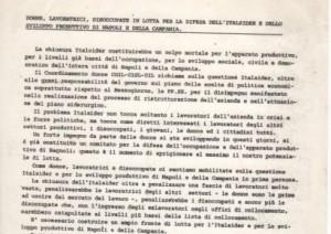 Donne, lavoratrici, disoccupate in lotta per la difesa dell'Italsider e dello sviluppo produttivo di Napoli e della Campania