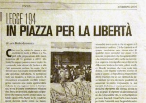 Legge 194 In piazza per la libertà