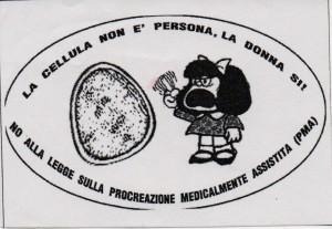 La cellula non è persona, la donna si!