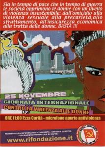 25 novembre Giornata Internazionale contro la violenza alle donne
